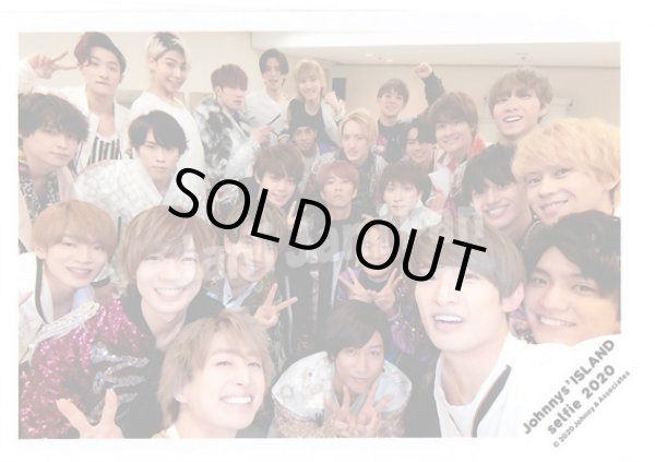 画像1: 公式写真 ★★ Snow Man・SixTONES Aぇ!group・TravisJapan(集合)(Johnnys'ISLAND selfie 2020) (1)